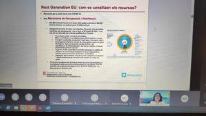 Una captura de la presentació sobre els fons Next Generation.